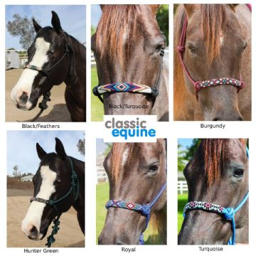 Professional's Choice Beaded Rope Halter.